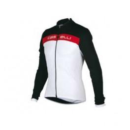 Castelli pánský zateplený dres PROLOGO LS JERSEY FZ 8010